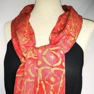Vintage Accessories - BATIK Dyed Summer Scarf #hundredsofscarves